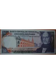 50 Bolívares  Mayo 31 1990 Serie: D8