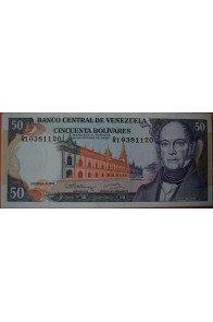 50 Bolívares Diciembre 8 1992 Serie R8
