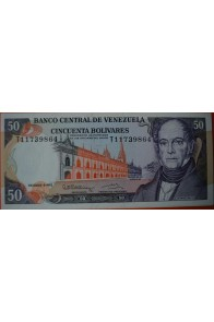 50 Bolívares Diciembre 8 1992 Serie T8