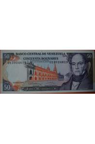 50 Bolívares Diciembre 8 1992 Serie U8