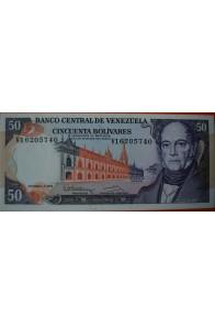 50 Bolívares Diciembre 8 1992 Serie V8