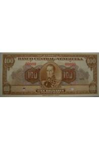100 Bolívares  1945-1953 Espécimen Anv.