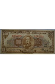 100 Bolívares  Marzo 2 1950 Serie B7