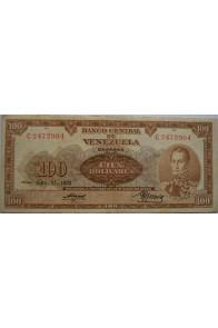 100 Bolívares  Julio 23 1953 Serie C7
