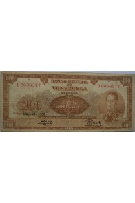 100 Bolívares  Julio 23 1953 Serie D7