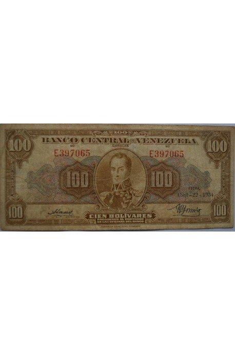 100 Bolívares  Abril 22 1954 Serie E6