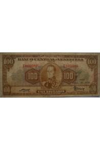 100 Bolívares  Diciembre 16 1954 Serie E6