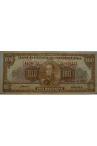100 Bolívares  Junio 13 1957 Serie G7