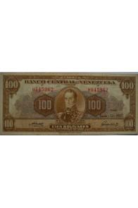 100 Bolívares  Junio 13 1957 Serie H6