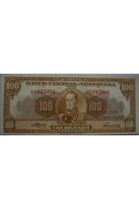 100 Bolívares  Agosto 8 1957 Serie H7