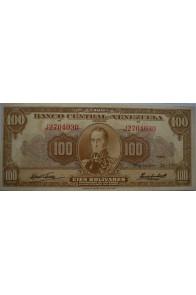 100 Bolívares  Septiembre 24 1959 Serie J7