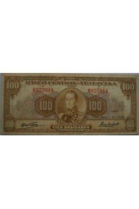 100 Bolívares  Marzo 11 1960 Serie K6