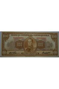 100 Bolívares  Marzo 11 1960 Serie K7