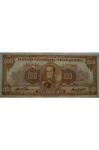 100 Bolívares  Marzo 11 1960 Serie L6