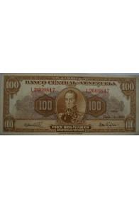 100 Bolívares  Junio 6 1961 Serie L7