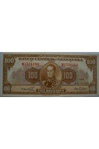 100 Bolívares  Julio 3 1962 Serie M7