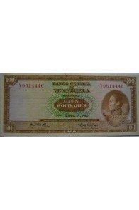 100 Bolívares  Marzo 18 1969 Serie V7