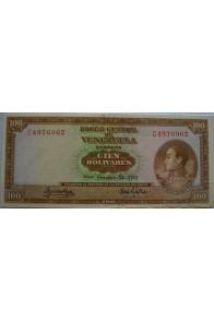 100 Bolívares  Octubre 24 1972 Serie C7