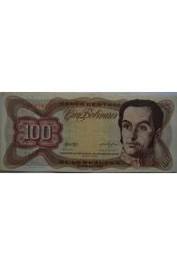 100 Bolívares  Marzo 5 1974 Serie H7