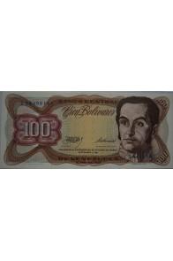 100 Bolívares  Septiembre 1 1981 Serie L8