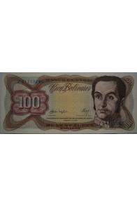 100 Bolívares  Febrero 3 1987 Serie Z8