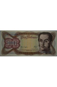 100 Bolívares  Febrero 3 1987 Serie D8