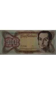 100 Bolívares  Febrero 5 1998 Serie F8
