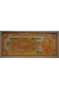 500 Bolívares  Agosto 14 1947 Serie B6