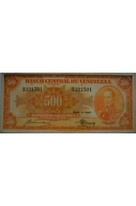500 Bolívares  Septiembre 4 1947 Serie B6