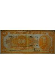 500 Bolívares  Mayo 17 1951 Serie B6