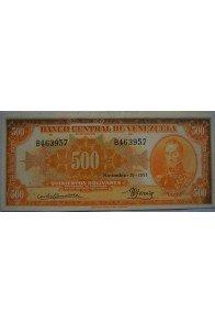 500 Bolívares  Noviembre 19 1951 Serie B6
