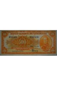 500 Bolívares  Enero 17 1952 Serie B6