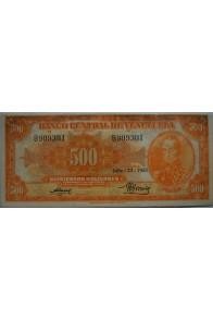 500 Bolívares  Julio 23 1953 Serie B6