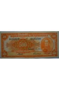 500 Bolívares  Noviembre 8 1956 Serie B7