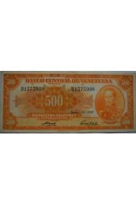 500 Bolívares  Junio 13 1957 Serie B7