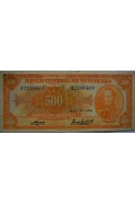 500 Bolívares  Mayo 29 1958 Serie B7