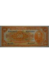 500 Bolívares  Marzo 11 1960 Serie B7