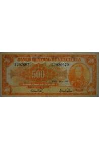 500 Bolívares  Mayo 10 1966 Serie B7