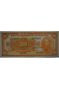 500 Bolívares  Agosto 8 1967 Serie C6