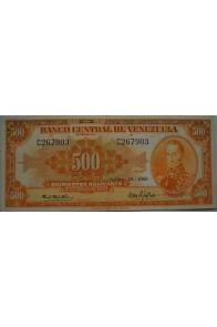 500 Bolívares  Septiembre 24 1968 Serie C6