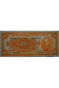 500 Bolívares  Marzo 18 1969 Serie C6