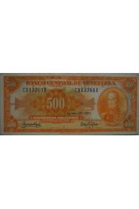 500 Bolívares  Agosto 17 1971 Serie C7