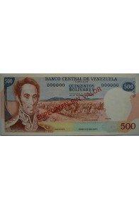 500 Bolívares Espécimen 1971-1972. Anv