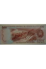 500 Bolívares Espécimen 1971-1972. Rev