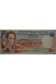 500 Bolívares  Noviembre 9 1971 Serie A7
