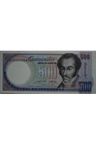 500 Bolívares Marzo 16 1989 Serie D8