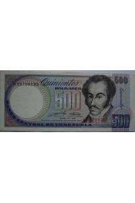 500 Bolívares Mayo 31 1990 Serie H8