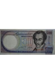 500 Bolívares Mayo 31 1990 Serie J8
