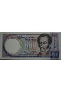 500 Bolívares Mayo 31 1990 Serie B8