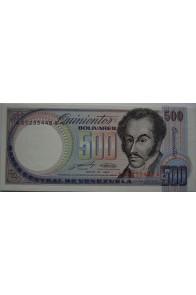500 Bolívares Mayo 31 1990 Serie AA8